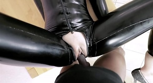 LATEX MODEL GETS FUCKED IN THE ASS BY BBC